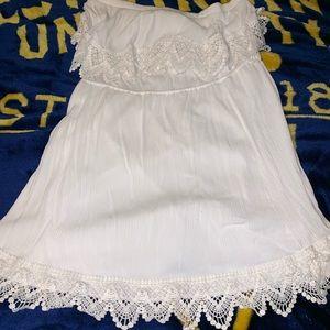 Plus Size White Strapless Dress